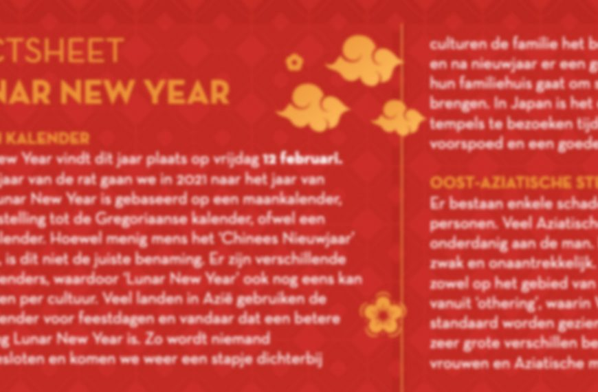 """Factsheet Lunar New Year: de juiste benaming van """"Chinees Nieuwjaar"""""""