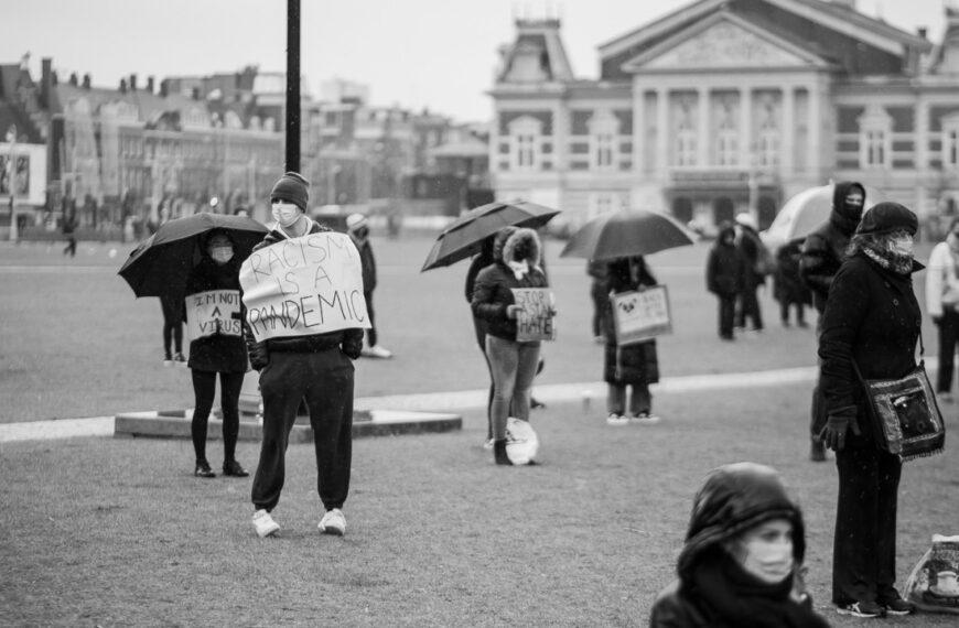 Demonstratie tegen racisme jegens Aziaten #StopAsianHate