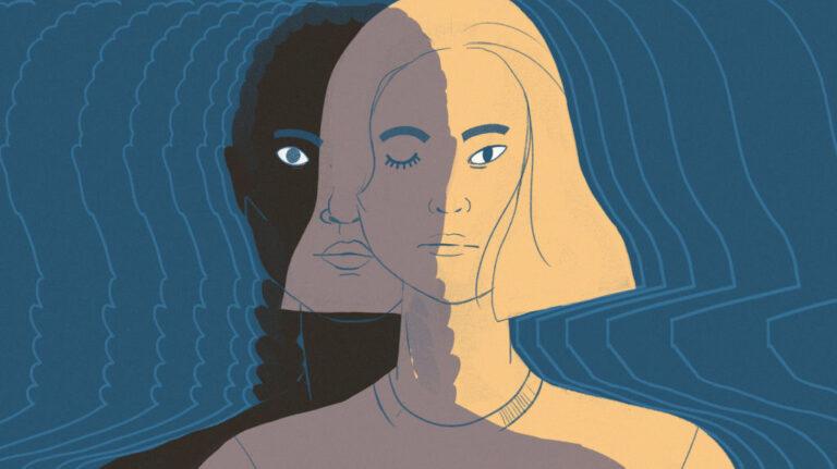 Internalised racism illustration